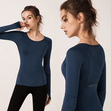 Sports Tee Women Yoga Top Activewear Workout Shirts Running Top Long Sleeves Gym Clothes недорого