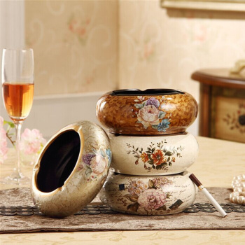 Lavish European Resin Ashtray