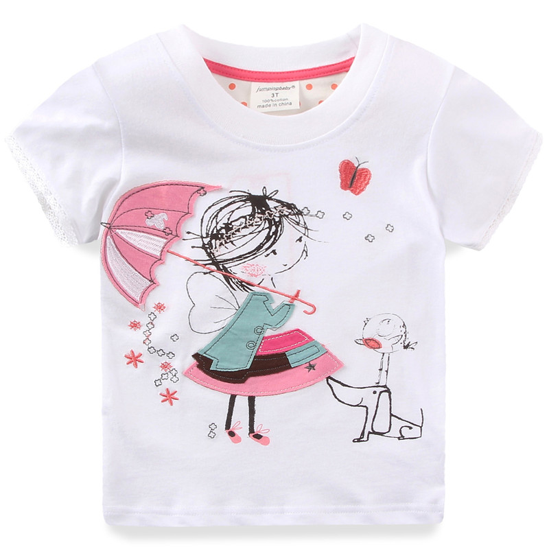 2018 Children Tshirt Girls SummerT-Shirt Clothing Kids Camiseta Child Cotton t shirt Tops Tees Clothes Roupas Infantis Menina ...
