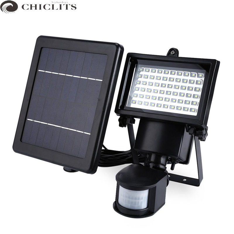 New Garden Solar Light with Motion Sensor Lamp 60Leds Solar Panel Led Lamp Waterproof Outdoor Solar Floodlights Spotlights Luces