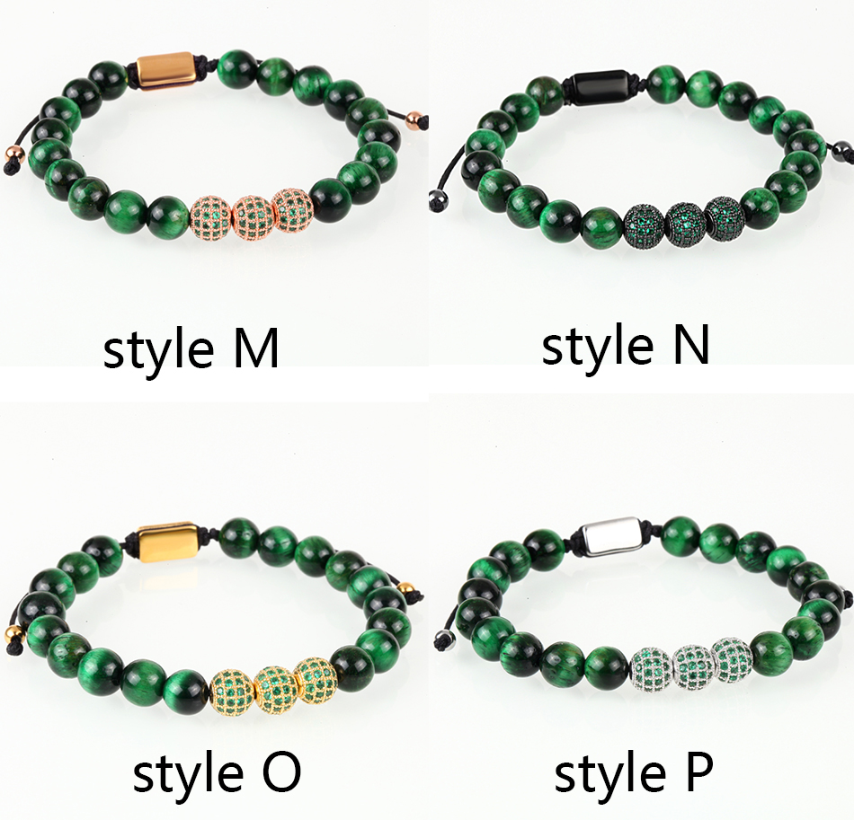 HTB18qPLMIbpK1RjSZFyq6x_qFXaJ Crown Ball Pave Setting Zircon Beads Braided Bracelet Bangle Jewelry