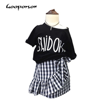 New Brand Quality Baby Girls Clothing Sets Short Sleeve Shirt+ SkirtChildren Clothing Summer Baby Girls Clothes Set Outwear