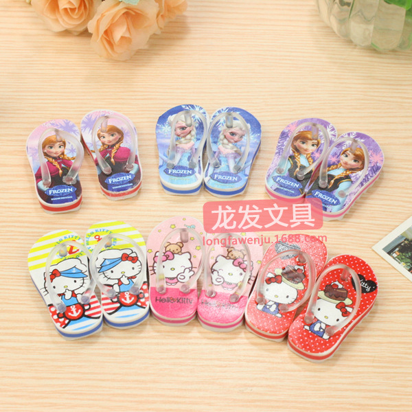 Eraser Creative Personality Korea Aisha Hello KT Fruit Creative Simulation Slippers Rubber Painting Creative Stationery