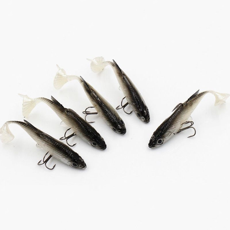 Image 2 - 5Pcs Hot Sale !! Leurre Souple Soft Lure Carp Fishing tackle Fishing wobblers Artificial Bait Pike Lure 4 colors 14G 8.6CM-in Fishing Lures from Sports & Entertainment