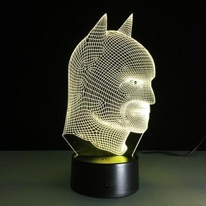 Image 5 - Batman Superhero Novelty Lamp 7 Color Changing Visual Illusion LED Light Toy Action Figure Birthday Gift