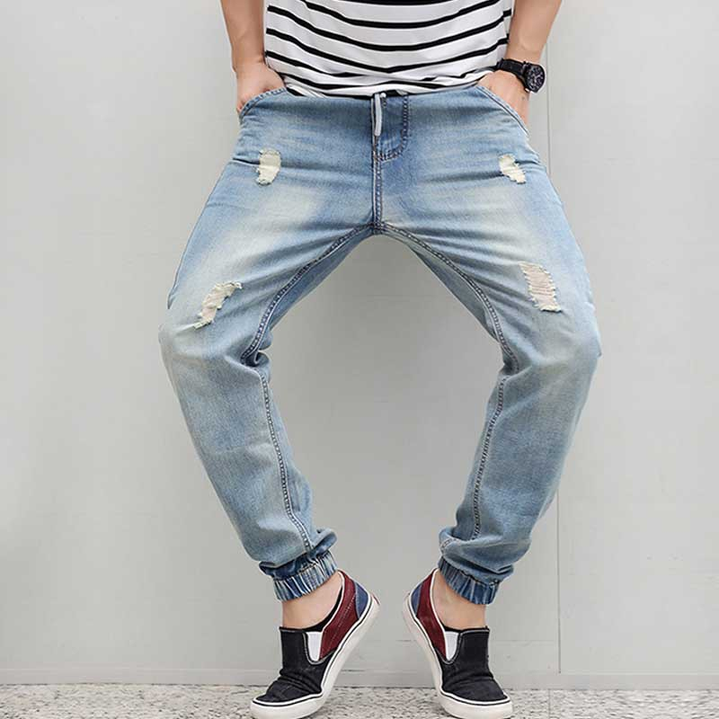 257fcad9f6e Men's Jeans Ripped Jeans Plus Size Loose Tapered Harem Jeans Elastic Waist  Denim Jeans Baggy Jogger Trousers Distressed M 6XL-in Jeans from Men's  Clothing ...