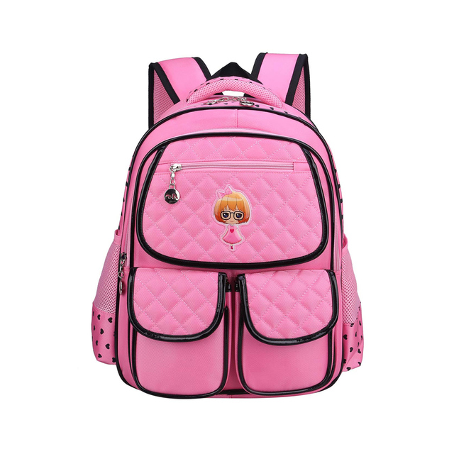 1ade042e4b Cartoon Cute Princess Girl Schoolbag Pupils Backpack Children s lovely  Backpack Girls Students Nylon School Bags Pink