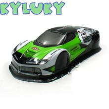 LEKYLUKY 1/10 PVC painted body shell for 1/10 RC hobby racing on-road drift car