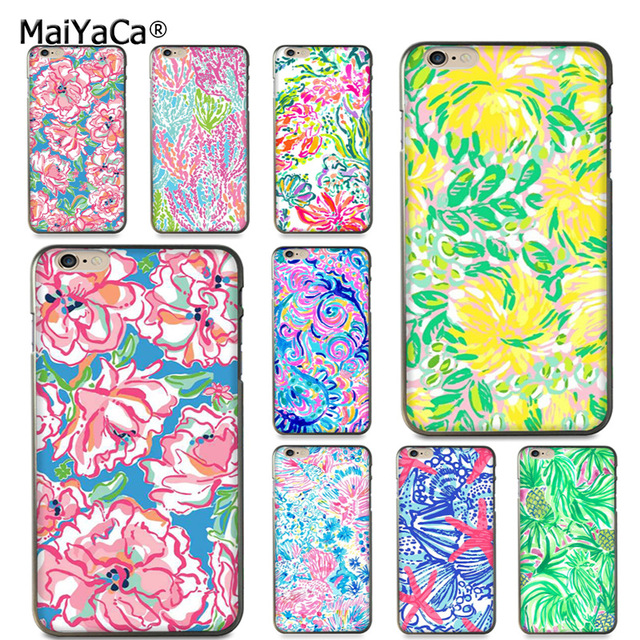 sale retailer 3b123 35227 US $1.47 26% OFF|MaiYaCa Lilly Pulitzer flower On Sale! Luxury Cool phone  Case for Apple iPhone 8 7 6 6S Plus X 5 5S SE 5C case Cover-in Half-wrapped  ...