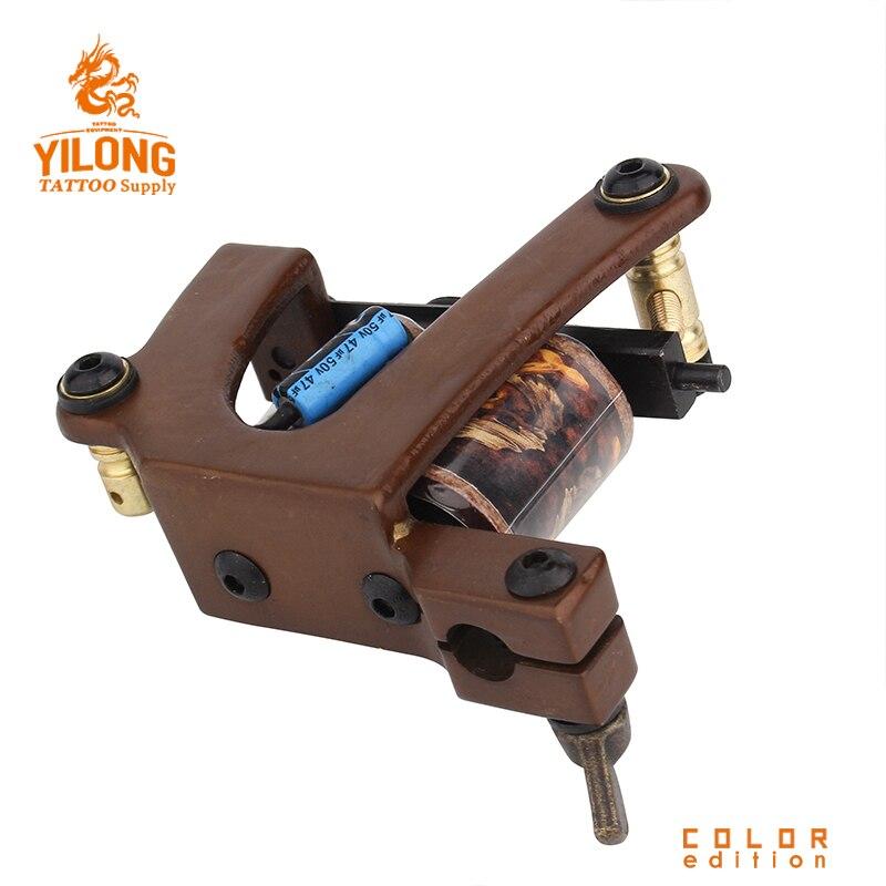 Machine de tatouage faite main professionnelle 10 bobines d'enveloppe pistolet de tatouage fait sur commande de cadre de cuivre pour des fournitures de tatouage de Shader ou de revêtement - 3
