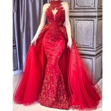 Cara&Alan Gorgeous Red Mermaid Evening Dresses With