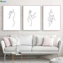 Abstract Line nude Body Art Prints Modern Wall Canvas Painting Nordic Poster And Pictures For Living Room Decor