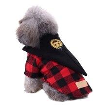 купить Pet Dog Halloween Coat Cosplay Set For Small And Medium Dogs Funny Pumpkin Hat Plaids Jacket Clothes по цене 261.34 рублей