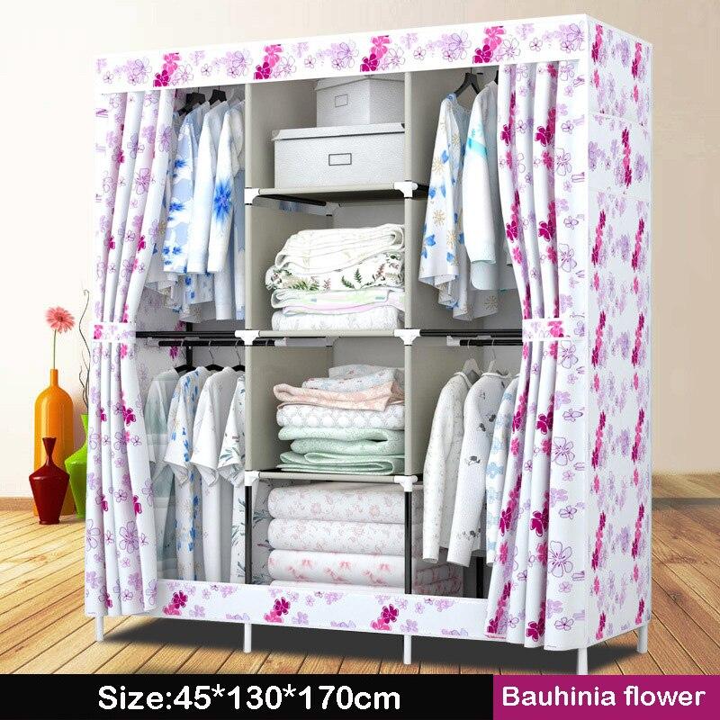 Нов платнен гардероб прост 4 висящи - Мебели - Снимка 4