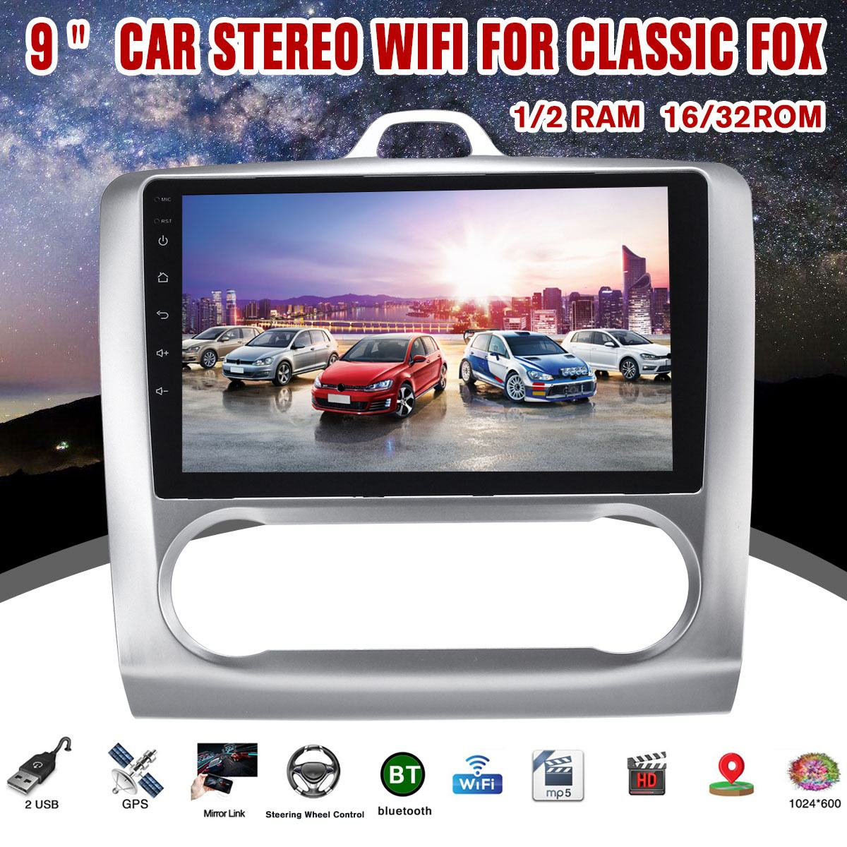 9 Car Multimedia Player Android 8 1 GPS Navigation bluetooth WiFi Touch Screen Radio Car Media