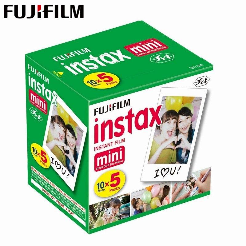 D'origine Fuji Fujifilm Instax Mini 8 Film Blanc Bord Papiers Photo Pour Mini 9 7 s 90 25 55 Partager SP-1 Appareil Photo Instantané 50 feuilles