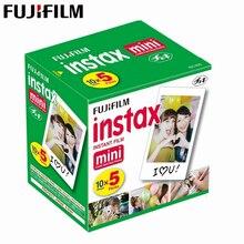 מקורי פוג י Fujifilm Instax מיני 8 סרט לבן קצה תמונה ניירות עבור מיני 11 9 7s 90 25 55 נתח SP 1 מיידי מצלמה 50 גיליונות