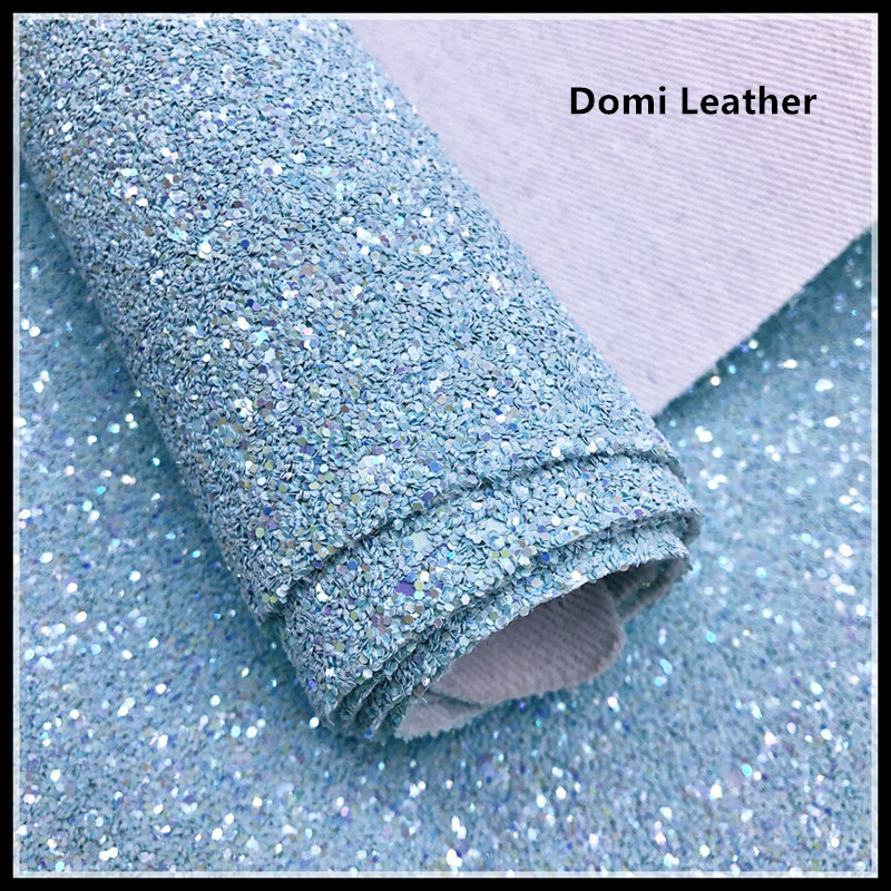 (DM6140) Chunky Frosted Glitter Leather Fabric