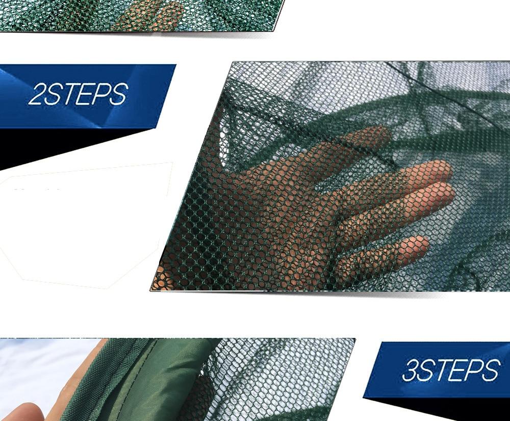 de peixe fundido net dobrável rede de pesca