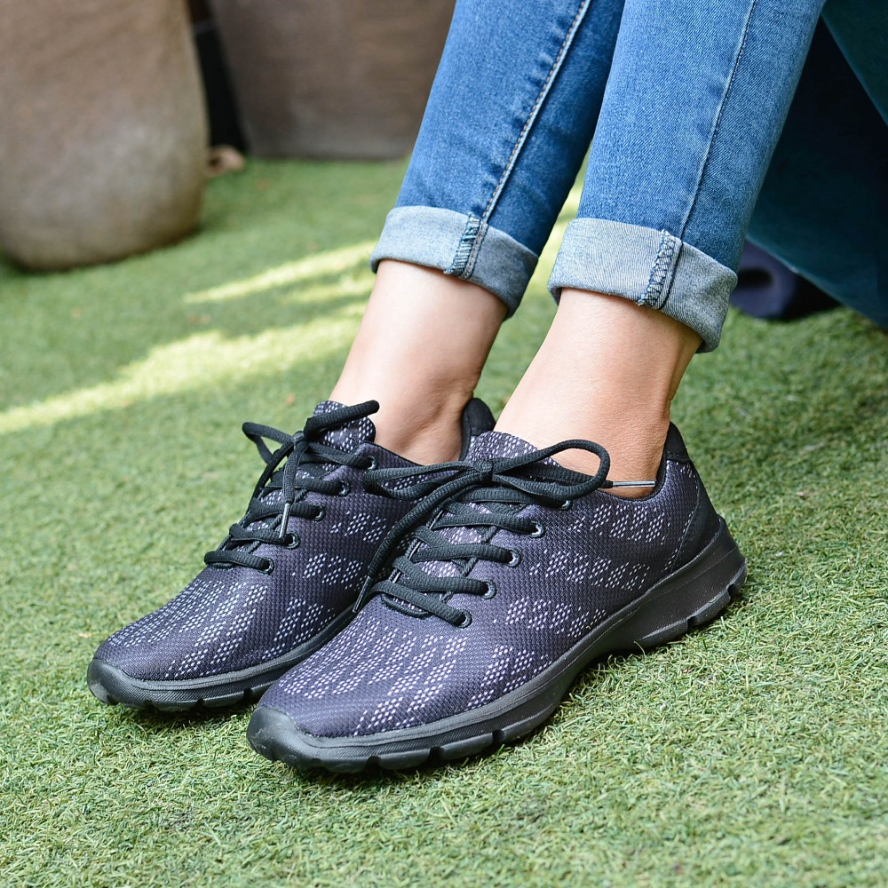 QANSI New Gradually Changing Color Women Running Shoes Spring Autumn Breathable Shoes Outdoor Sport Sneakers For Female 1678W 21