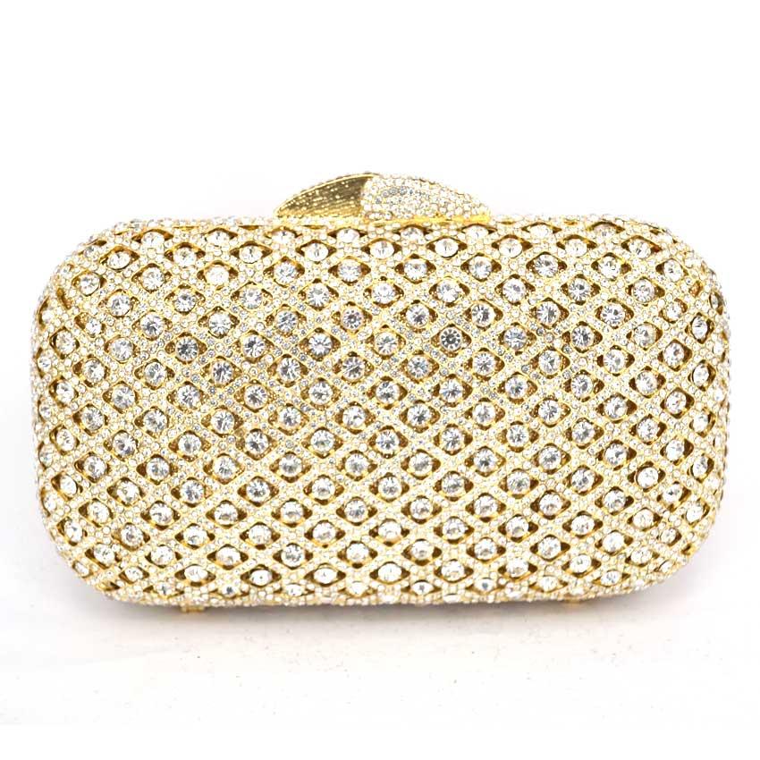 ФОТО Silver / Black / Gold Women elegant fashion Splice Rhinestone wedding party clutch evening bag ladies shoulder bag purse 88202
