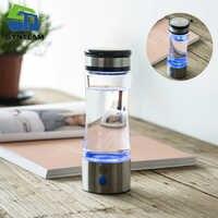 SYNTEAM di Marca di Vetro Bottiglia di Acqua Generatore di Idrogeno PEM Membrana Acqua Alcalina Caffè Tazza USB Ricaricabile Ionizzatore Acqua WAC010