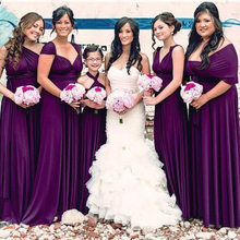b1e06b31ad3b 2019 Bridesmaid Dresses infinity eggplant Evenin convertible maternity bridesmaid  gown party dress(China)