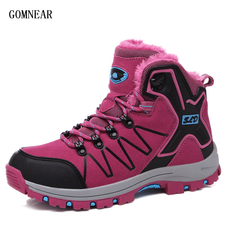 GOMNEAR Autumn Sneakers For Women Hiking Boots Outdoor Trekking Tourism Sport Shoes Trend Outdoor Cycling Comfortable