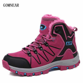 GOMNEAR Autumn Sneakers For Women Hiking Boots Outdoor Trekking Tourism Sport Shoes Trend Outdoor Cycling Comfortable Boots - DISCOUNT ITEM  39% OFF Sports & Entertainment