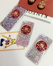 2016 Super Sailor Moon Paillette Colorful Pattern With Five-Pointed Star For Iphone6s Following From 6 Plus 4.7 Soft Shell Case