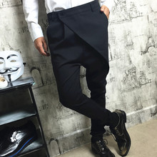27~44! New 2017 Men's Clothing PLUS SIZE GD Stylist Haren trousers feet trousers personality casual pants singer costumes