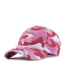17ef7b30e70 Fashion Cotton Camouflage Baseball Cap Women Lady Camo Hat Pink Purple Bone  Adjustable High Quality(