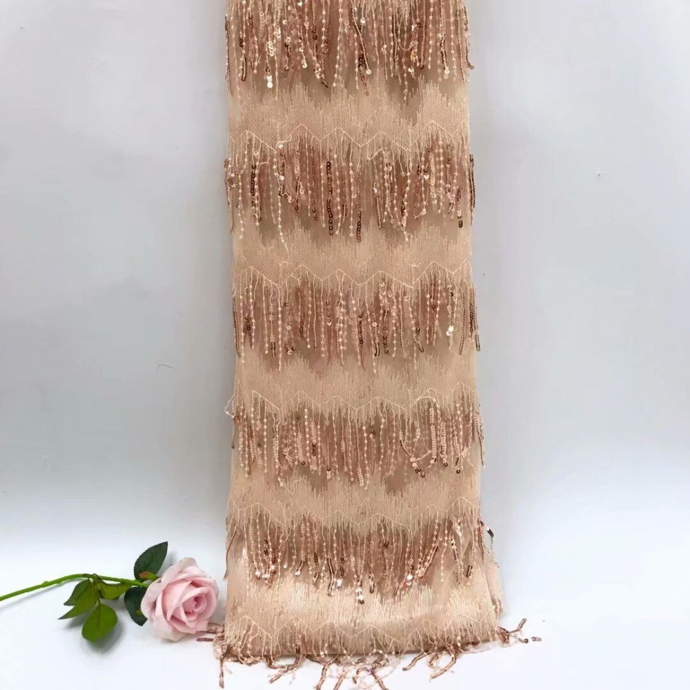 Sequin Lace Fabric Latest African Laces 2018 Nice Design French Lace Fabric Hot Selling Tulle dress fabrics