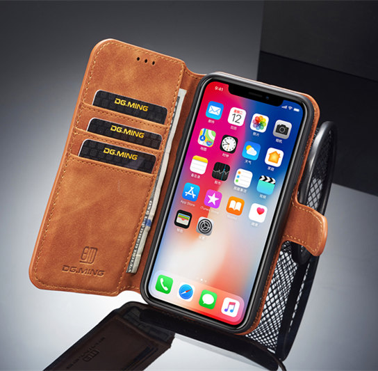 flip Leather Case For iPhone X 6 6s 7 8 Plus XS Cover Multi Card Holders Phone Cases For iPhone XS Max XR 10 Cover Wallet Coque