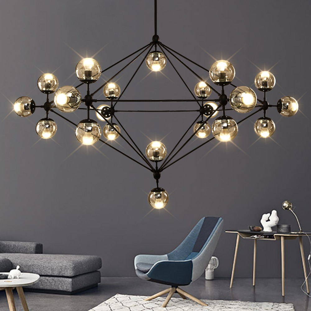 industrial lamp pendant lights loft style magic bean wrought iron suspension luminaire modern. Black Bedroom Furniture Sets. Home Design Ideas
