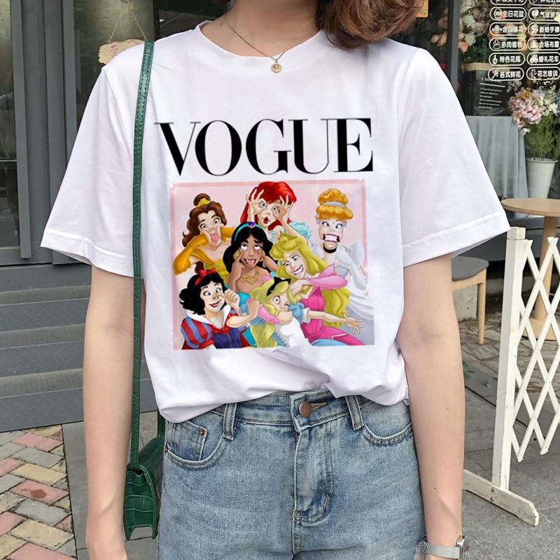 New Graphic Vogue T Shirt Women Fashion Harajuku Ullzang Cartoon T-shirt Funny Printed 90s Tshirt Korean Style Top Tees Female 6