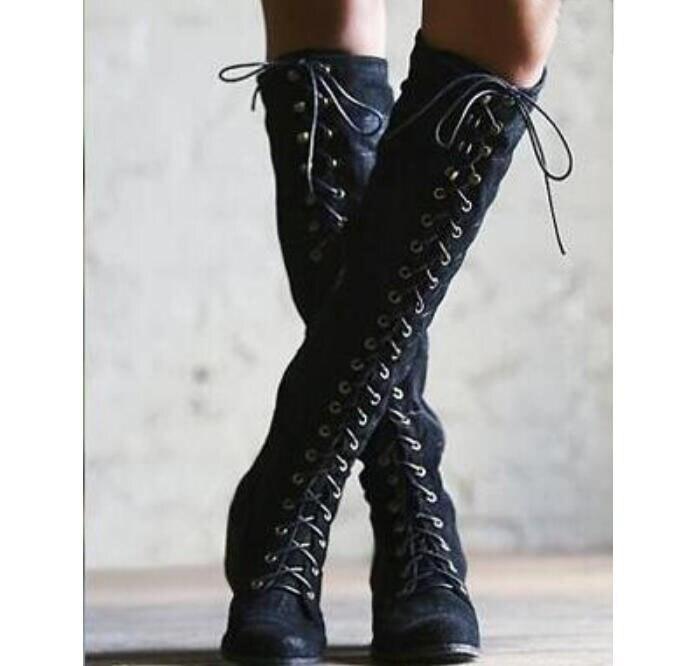 Cordones Con grey La Niñas brown Cuadrados Ab0042 Black Zapatos Moto De  Mujer Botines Bajos Hasta Para Rodilla Tacones ... 9c0e1fd4ce53