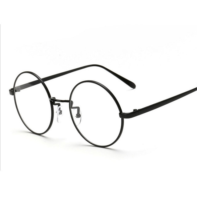 290609c70c Gafas de moda para mujer montura de gafas de Metal de marca para hombre gafas  redondas