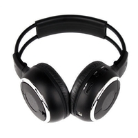 HQ 4PCS IR Wireless Headphones Headsets Earphone for Car DVD Player L Flip Down&Headrest