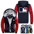 WISHOT The Walking Dead Negan Lucille Jacket Super Warm Thicken Fleece Zip Up Hoodie Men's Coat  USA Size Plus Size