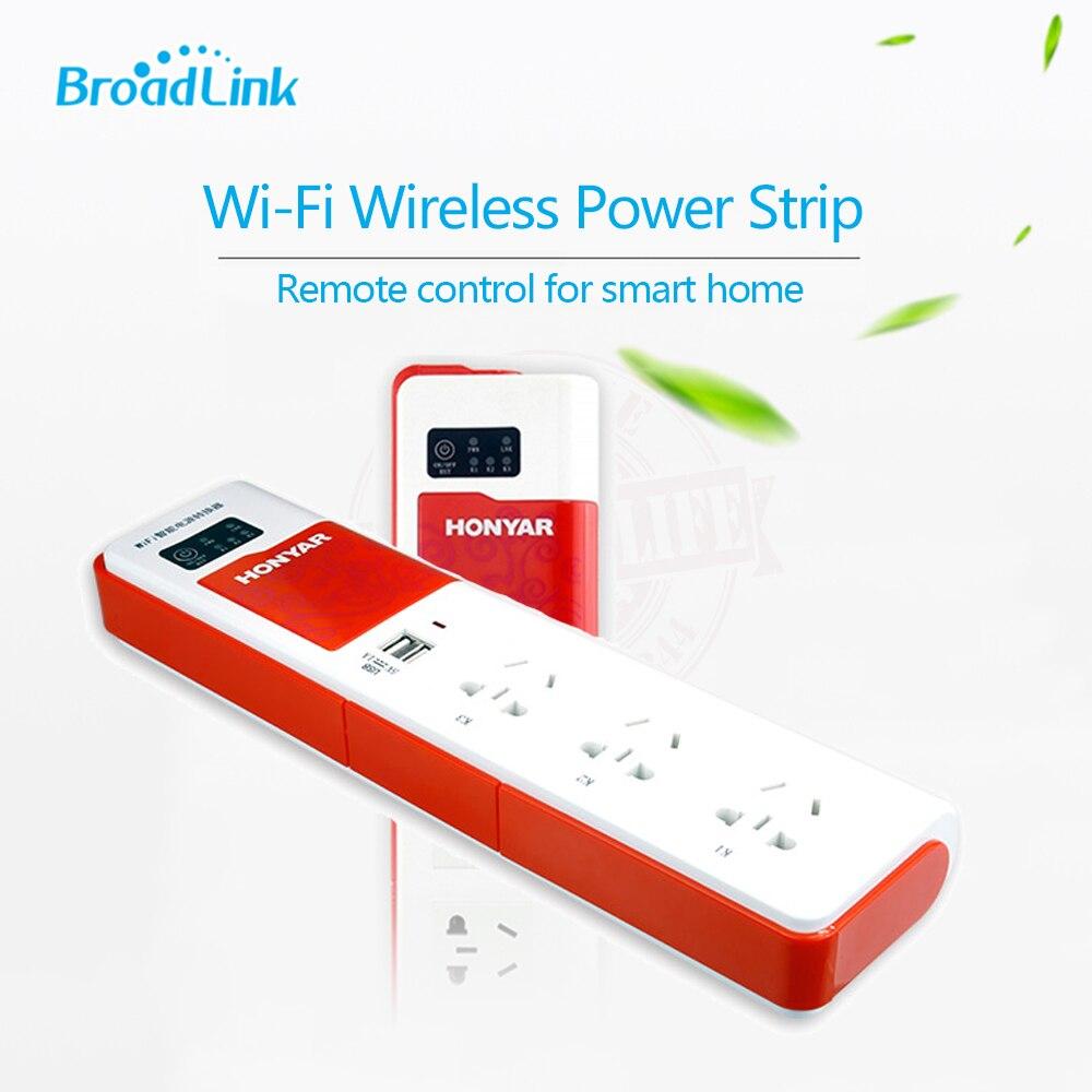 2019 BroadLink DNA HONYAR Smart Home Smart WiFi prise d'extension de commutateur prise de contrôle à distance avec 2 Ports USB par IOS Android