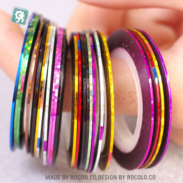 40 Colors Nail Rolls Striping Tape Strips Line Nail Art Decoration ...