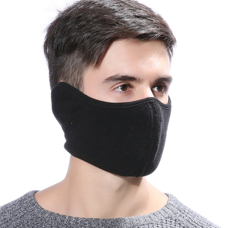 Fashion Winter Warmer Motorcycle Cycling Ski Thermal Fleece Ear Warmer Half Face Mask Men Women 1PC