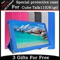 Luxo Caso especial Para Cube Talk11 u81gt tablet pc, para 10.6 polegadas cube talk11 Virar Stand case Couro PU com Frete grátis presente