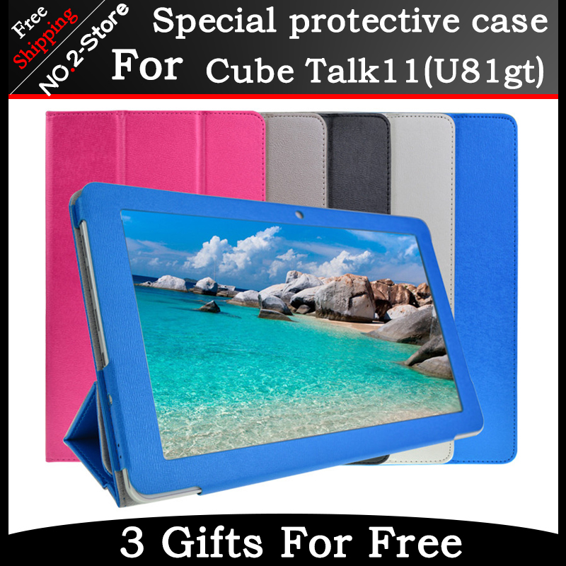Luxury special Case For Cube Talk11 u81gt tablet pc, for 10.6inch cube talk11 Flip Stand PU Leather case Free shipping with gift