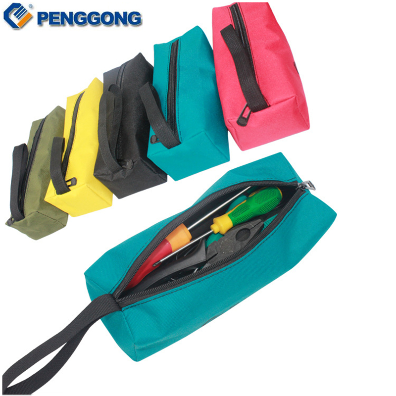 Hot Selling Multifunctional Storage Tools Bag Zipper Canvas For Small Metal Part