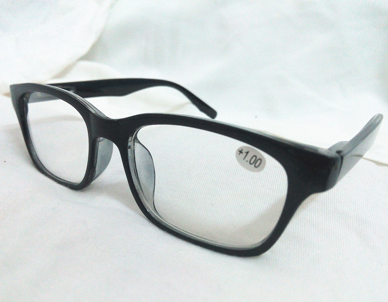 080072a94f5d 2PCS Black Big Round Horned Frame Thick Rim Men Womens Reading Glasses  Readers Clear Lens Spring Hinge Temples +1 2 3 4.0 3.5-in Reading Glasses  from ...