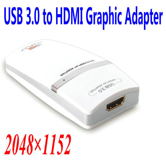 New Arrival USB 3.0 to HDMI Adapter Add Display to your Computer Effortlessly,With Video&Audio,Retail packaging +Free Shipping