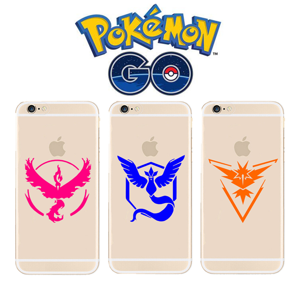 Pokemons go game Team Valor Mystic Instinct Silicone Coque Print Crystal Soft TPU Case Cover For iPhone X 5 5S SE 6 6S 7 8 Plus