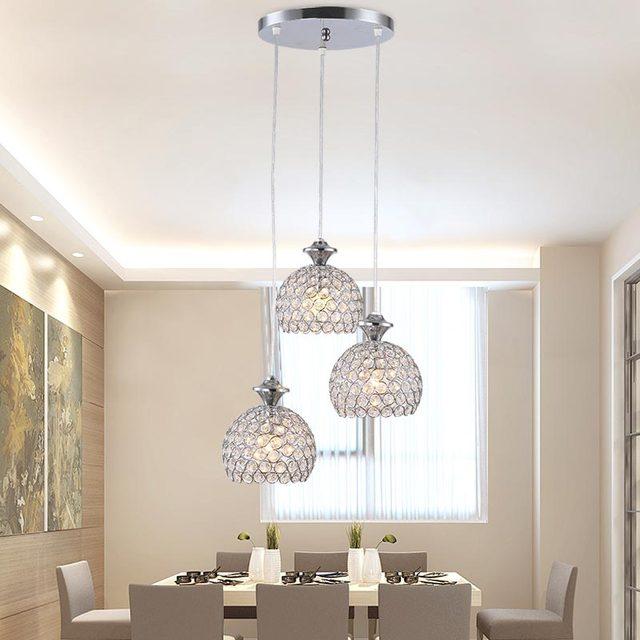 Moderne Lampes Suspendues Oiseaux Tissu Abat Jour Salon Salle À ...